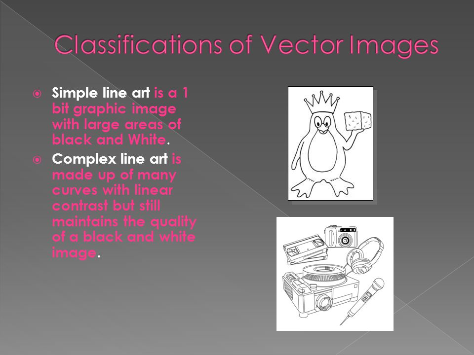 Classifications of Vector Images