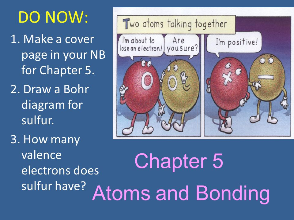 Chapter 5 Atoms And Bonding Do Now Ppt Download