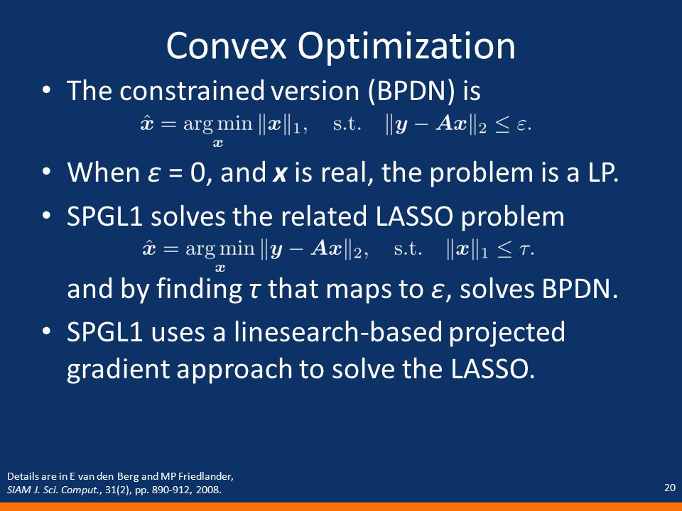 convex optimization with corrections 2008