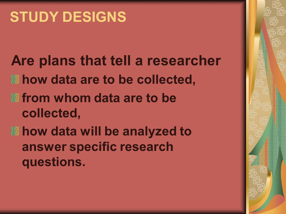 Are plans that tell a researcher