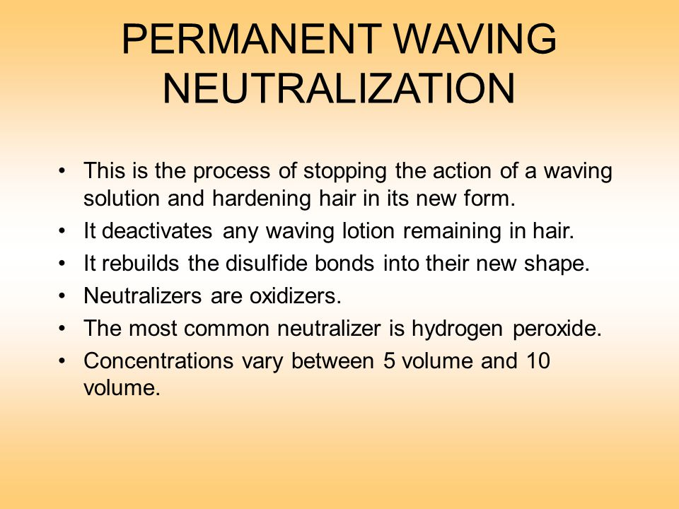 why do permanent waves need to be neutralized