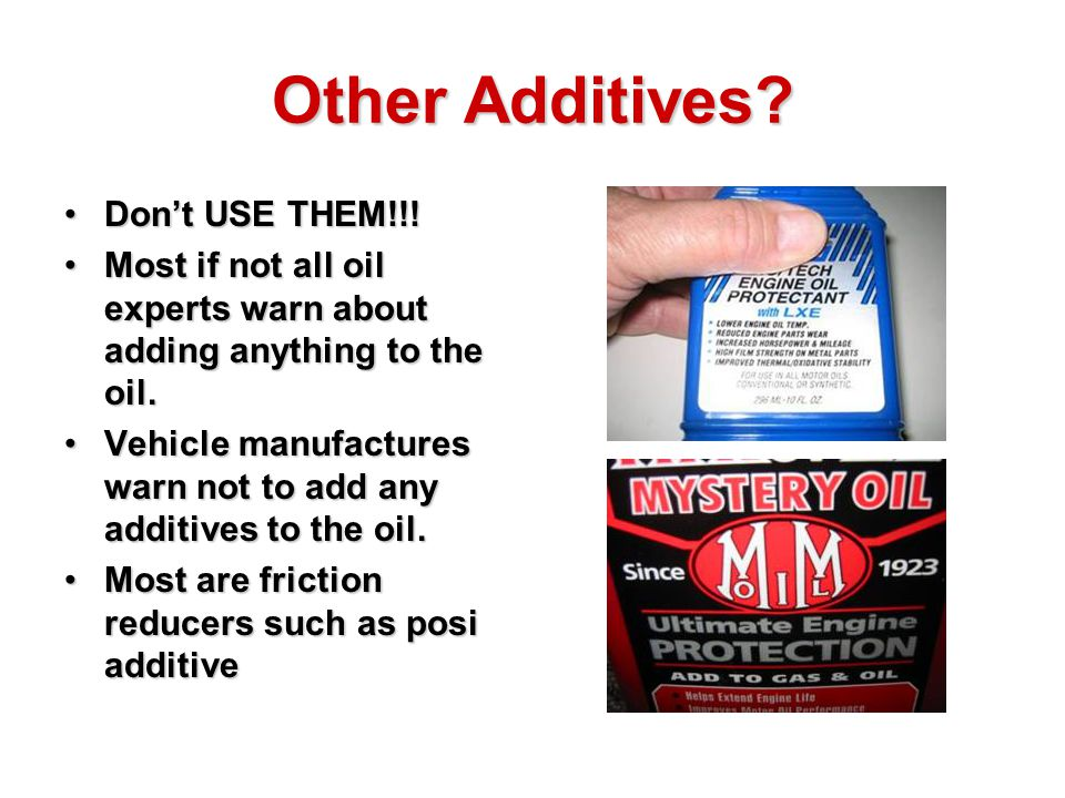 Friction Reducer Oil Additive