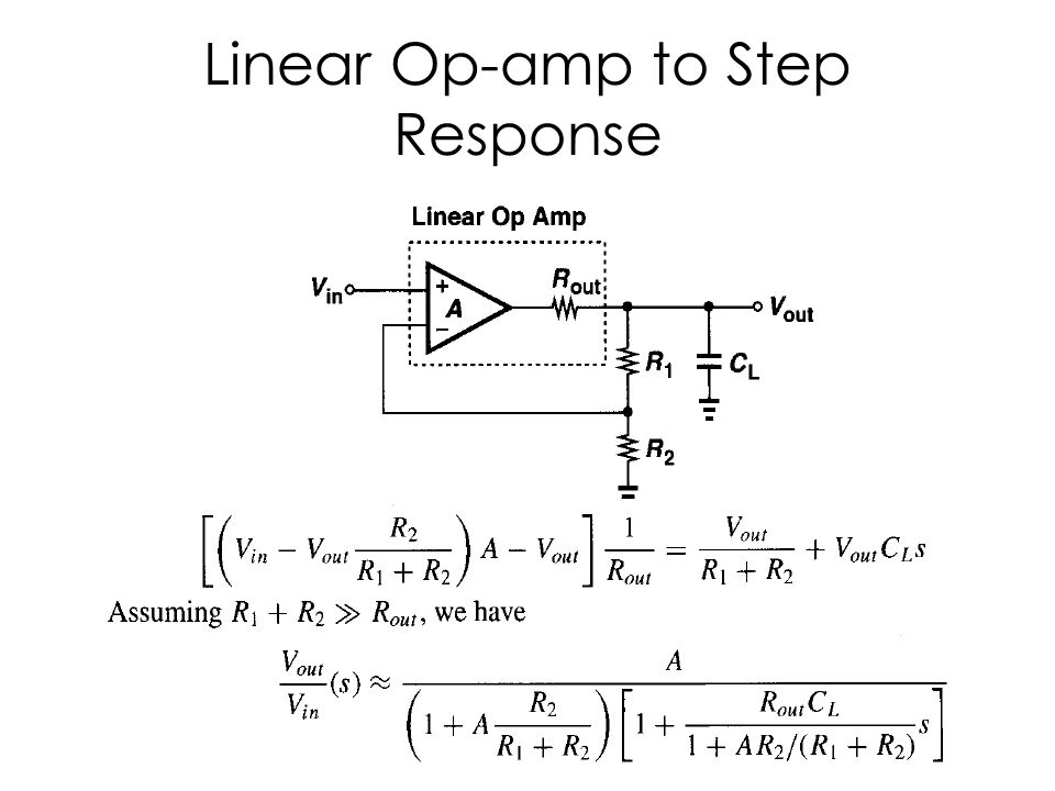 Linear Op-amp to Step Response