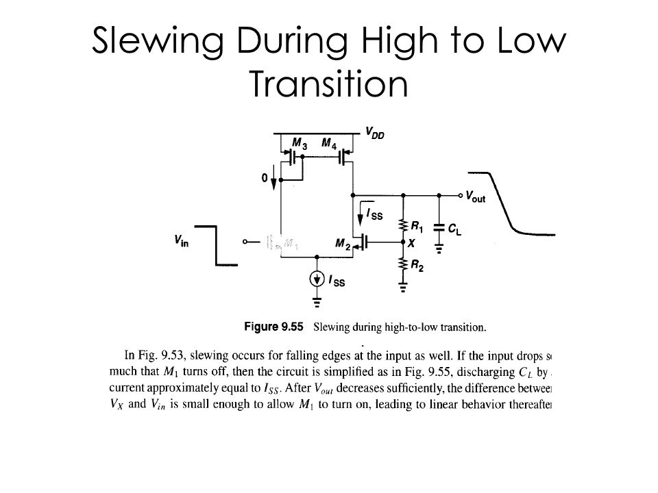 Slewing During High to Low Transition
