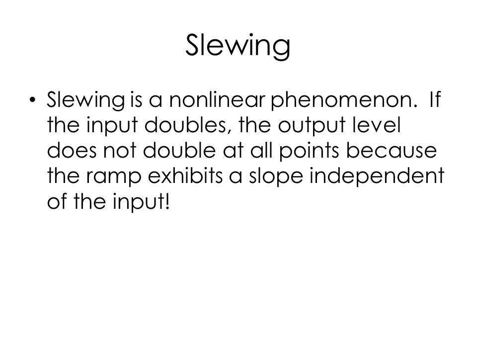 Slewing