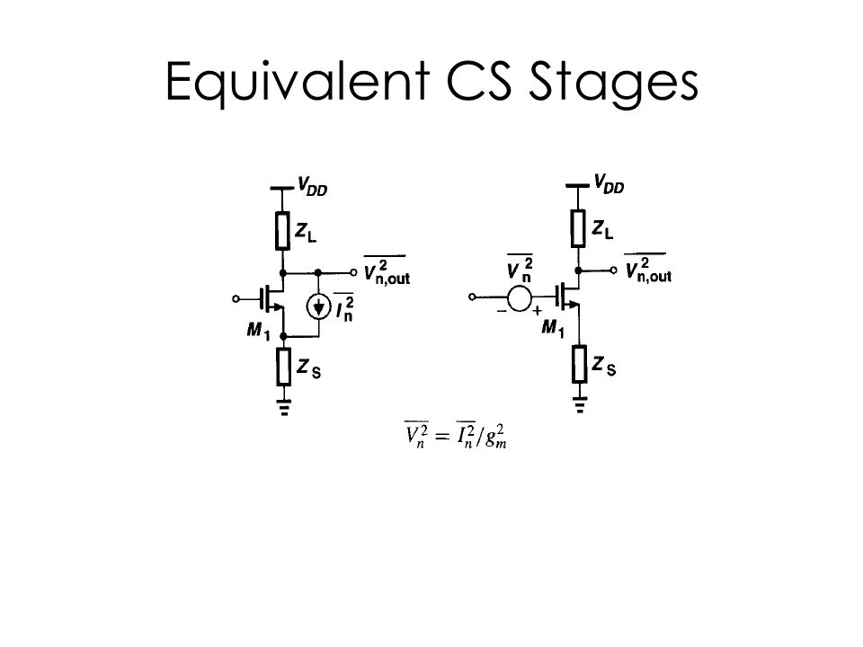 Equivalent CS Stages