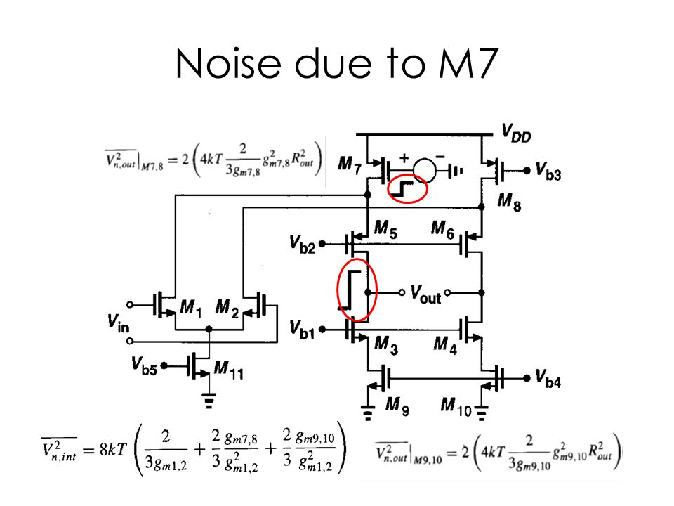 Noise due to M7