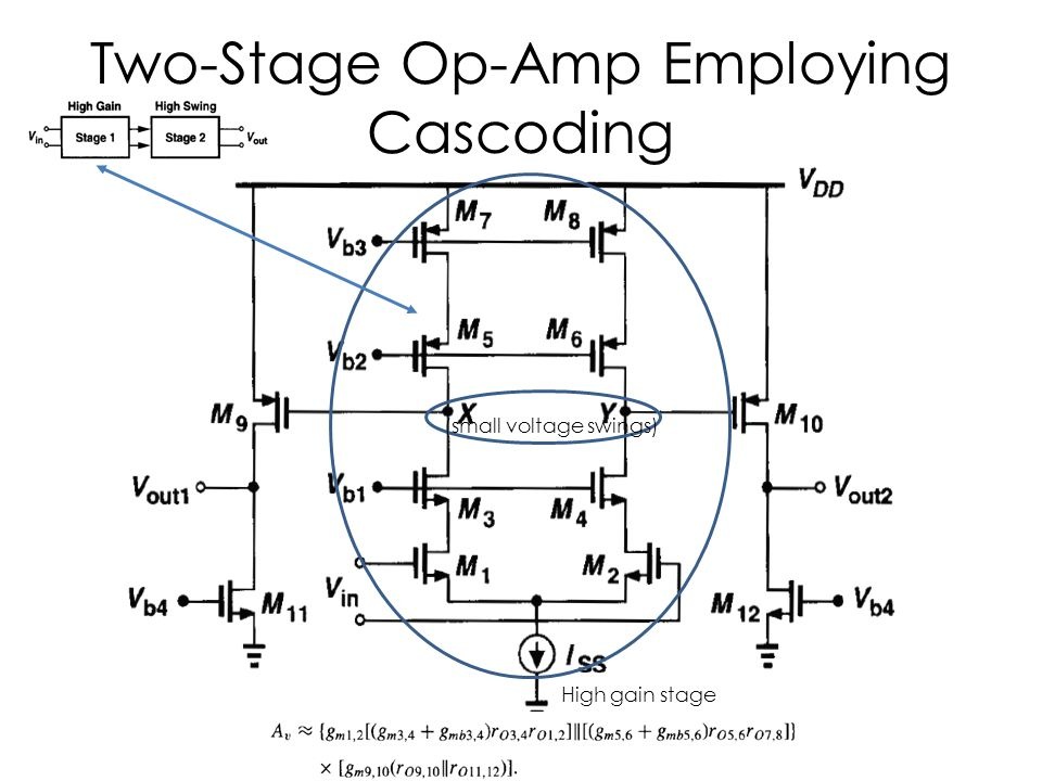 Two-Stage Op-Amp Employing Cascoding