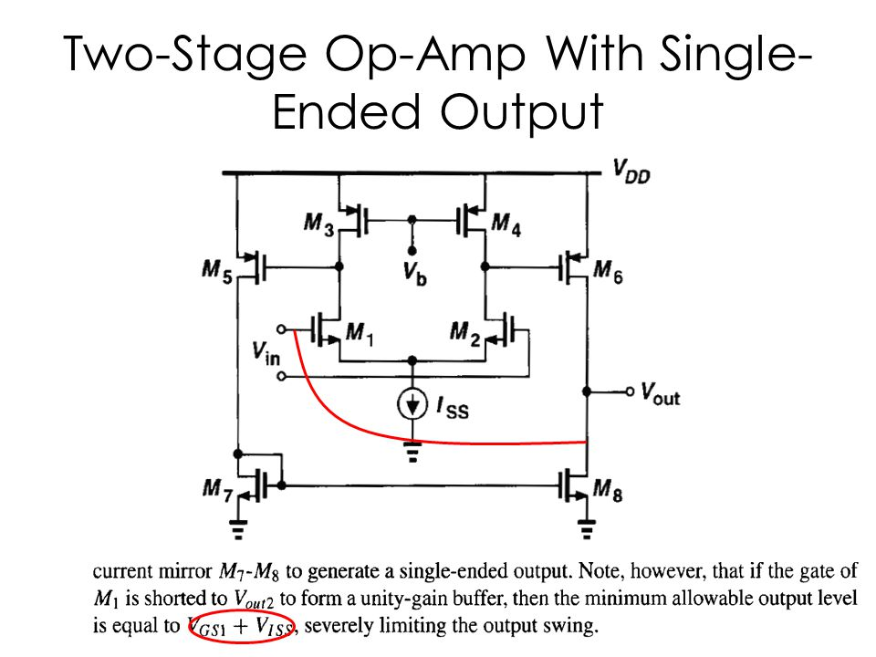 Two-Stage Op-Amp With Single-Ended Output