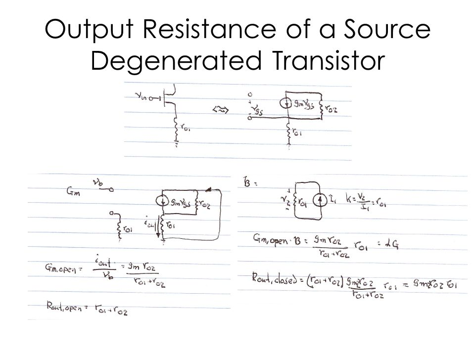 Output Resistance of a Source Degenerated Transistor