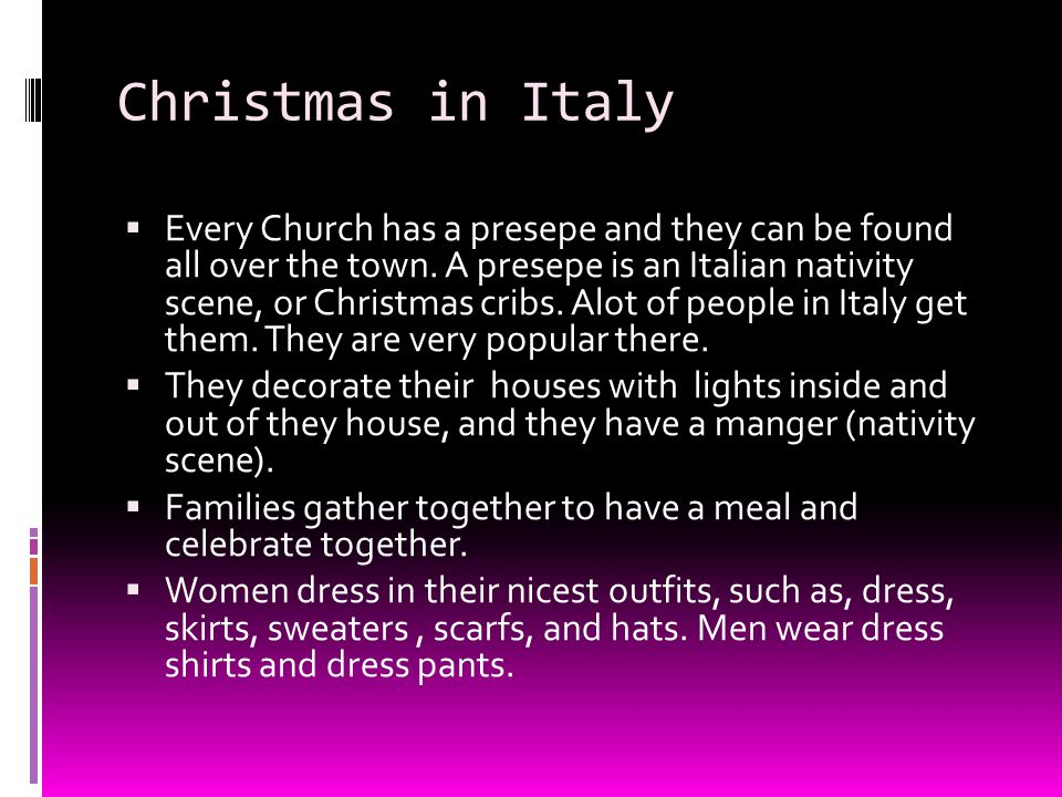 christmas in italy - How Does Italy Celebrate Christmas