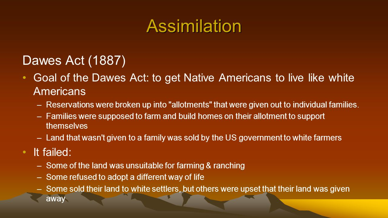 what was the goal of the dawes act