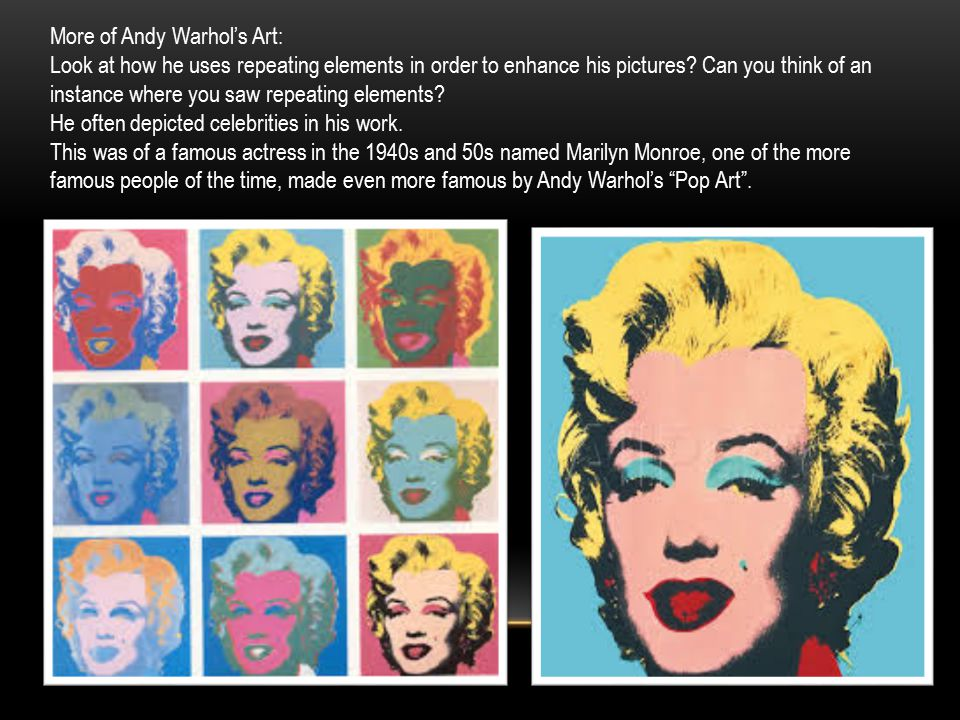 More of Andy Warhol's Art:
