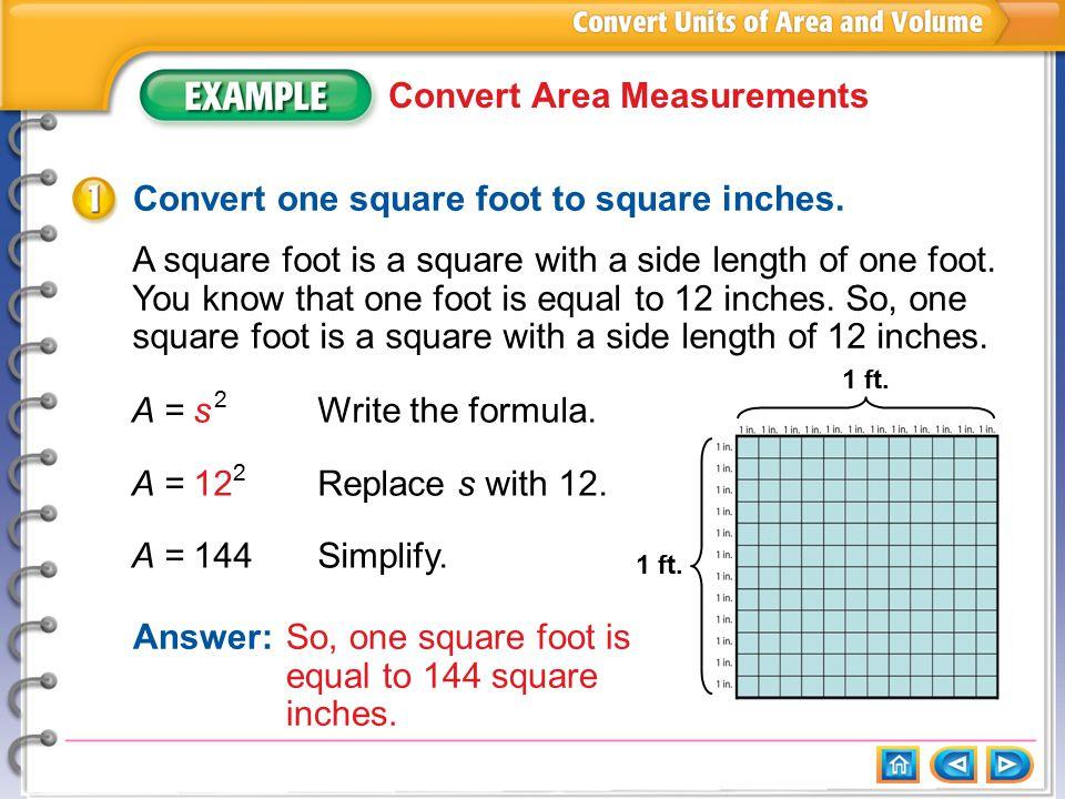 Example 1: Convert Area Measurements - ppt download