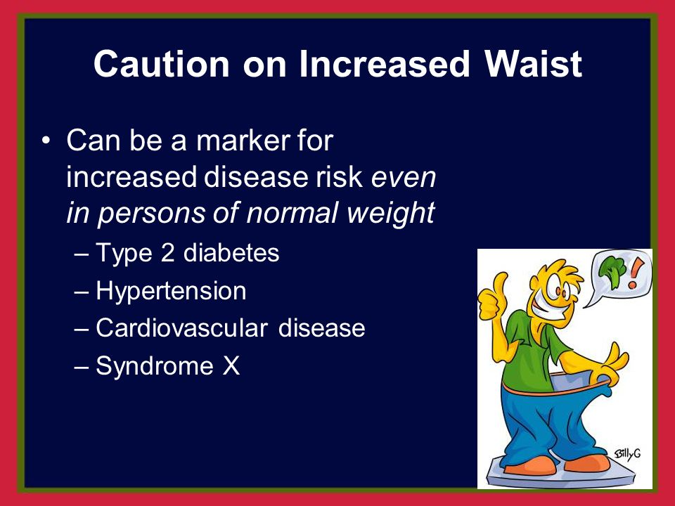 Caution on Increased Waist