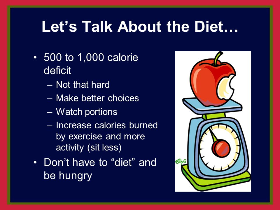 Let's Talk About the Diet…