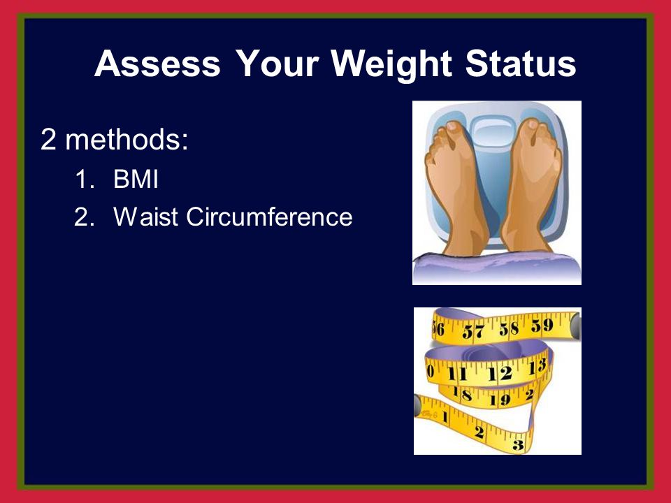 Assess Your Weight Status