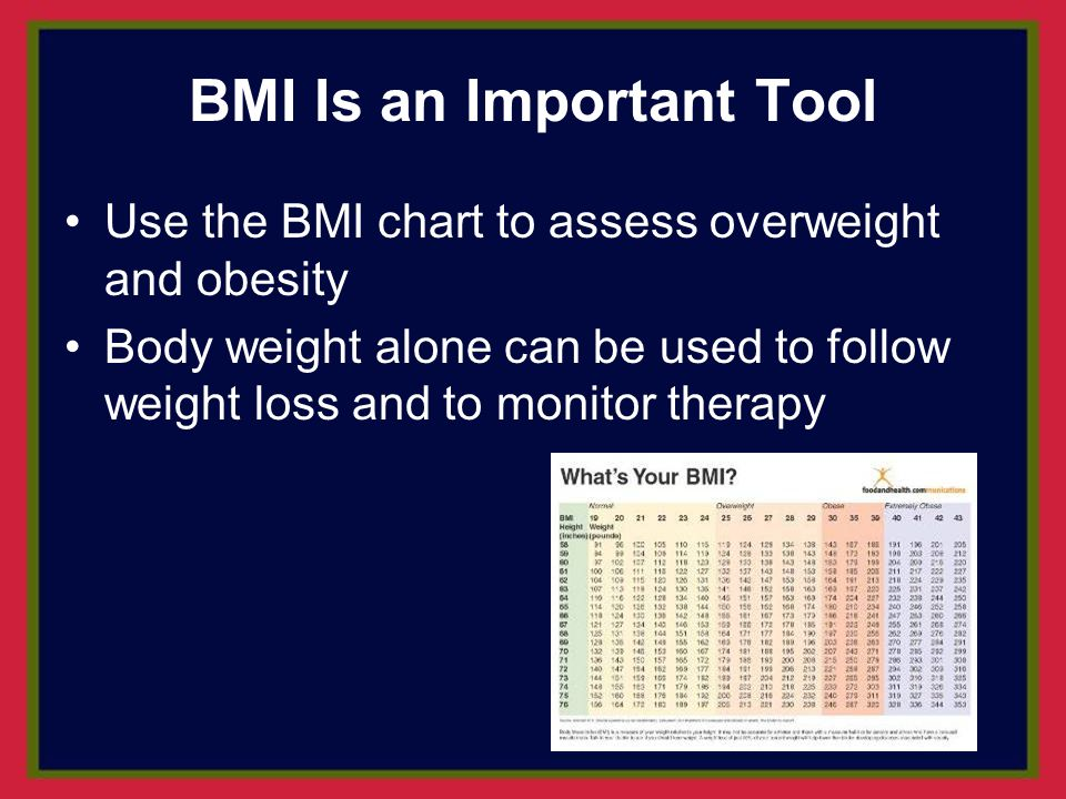 BMI Is an Important Tool