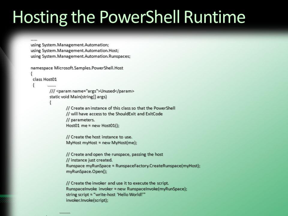 Using Windows PowerShell on Windows Embedded Standard - ppt video