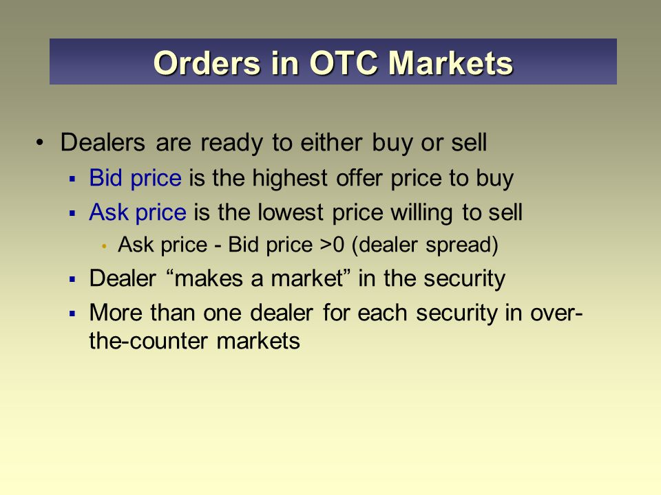 How Securities Are Traded Ppt Video Online Download