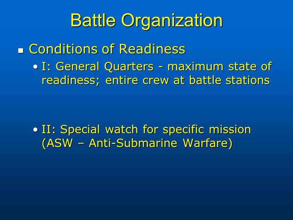 Shipboard Organization & Military Duties of a Naval Officer