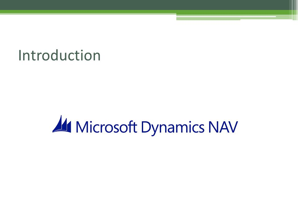 Microsoft Dynamics Nav (Navision) Training - ppt video