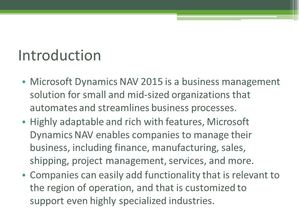 Microsoft Dynamics Nav (Navision) Training - ppt video
