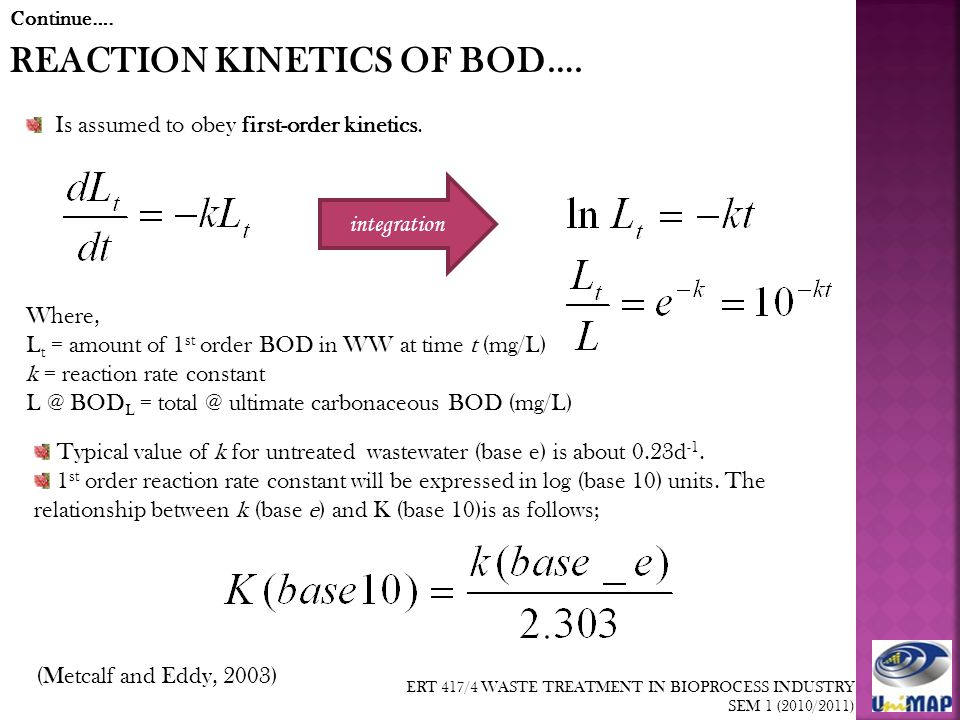 relationship between bod5 and ultimate bod