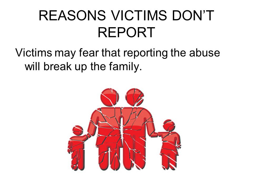 REASONS VICTIMS DON'T REPORT
