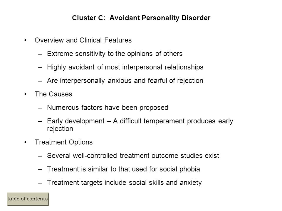 avoidant personality disorder treatment pdf