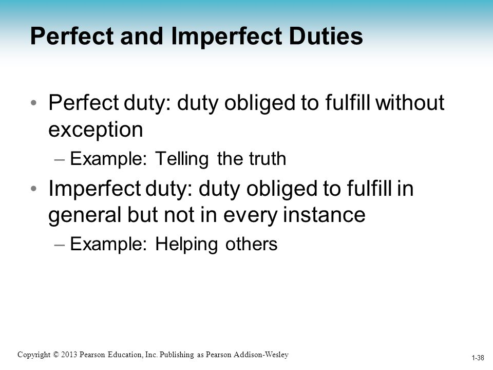 Perfect and Imperfect Duties