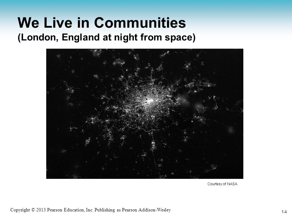 We Live in Communities (London, England at night from space)
