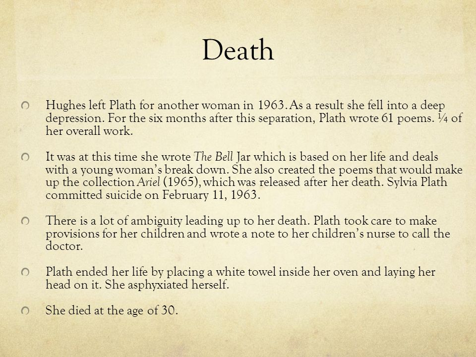 Sylvia Plath Ppt Download