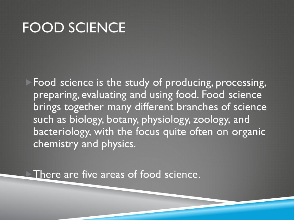 What Is Food Science And Why Should You Study It Ppt Download