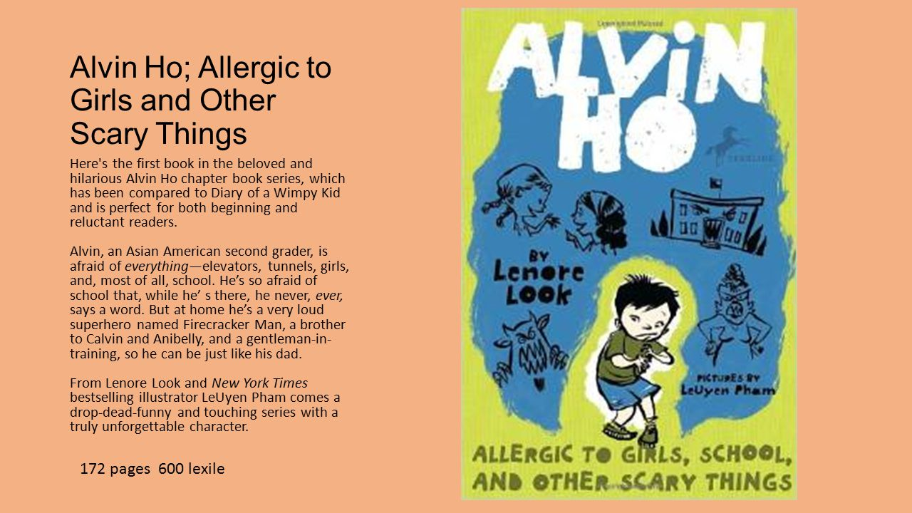 3 Alvin Ho; Allergic to Girls and Other Scary Things