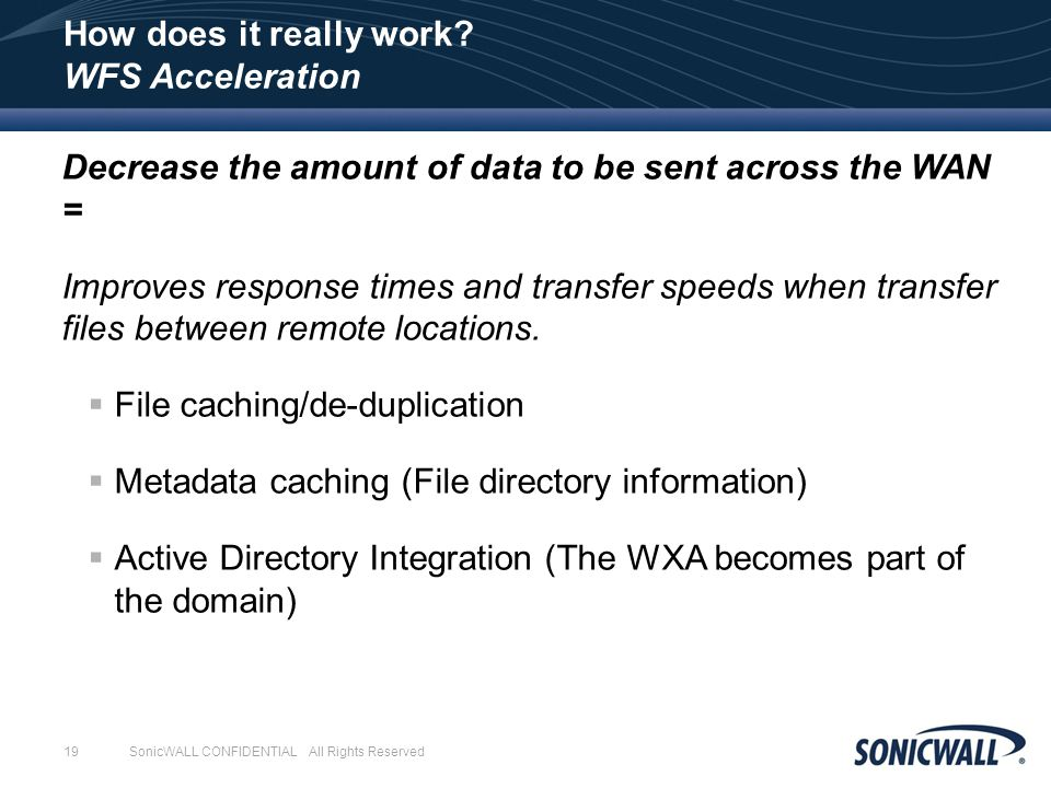 SonicWALL WXA – WAN Acceleration - ppt video online download