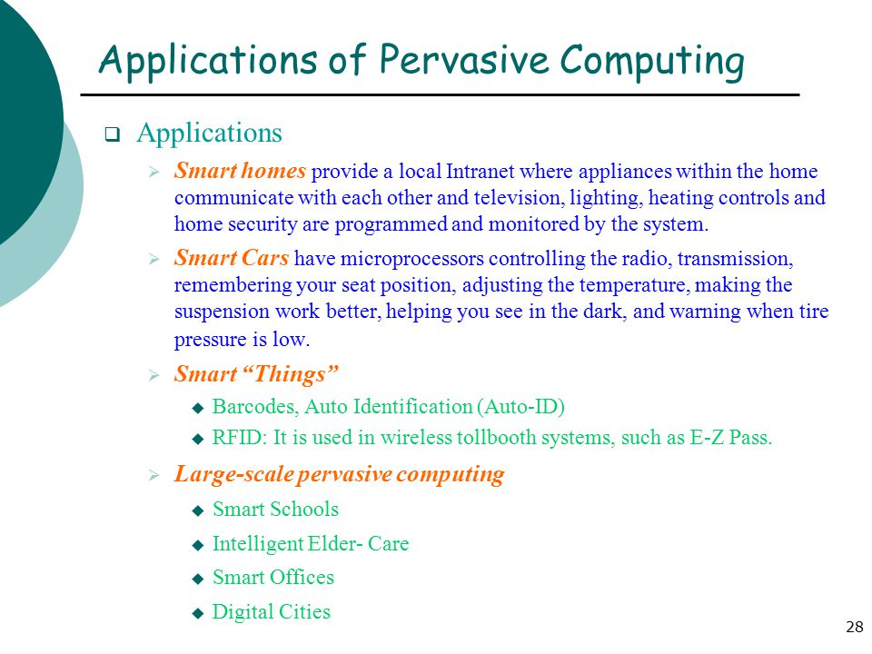 What is pervasive computing (ubiquitous computing)? Definition.