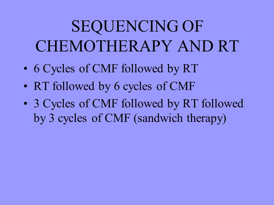 SEQUENCING OF CHEMOTHERAPY AND RT