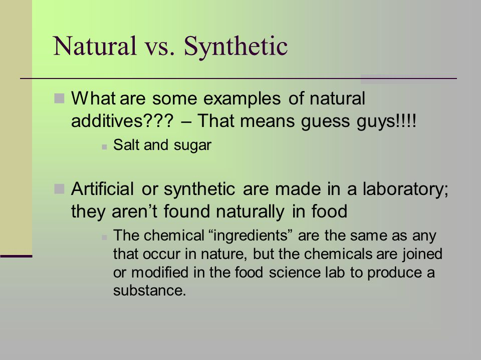 what are some examples of nature