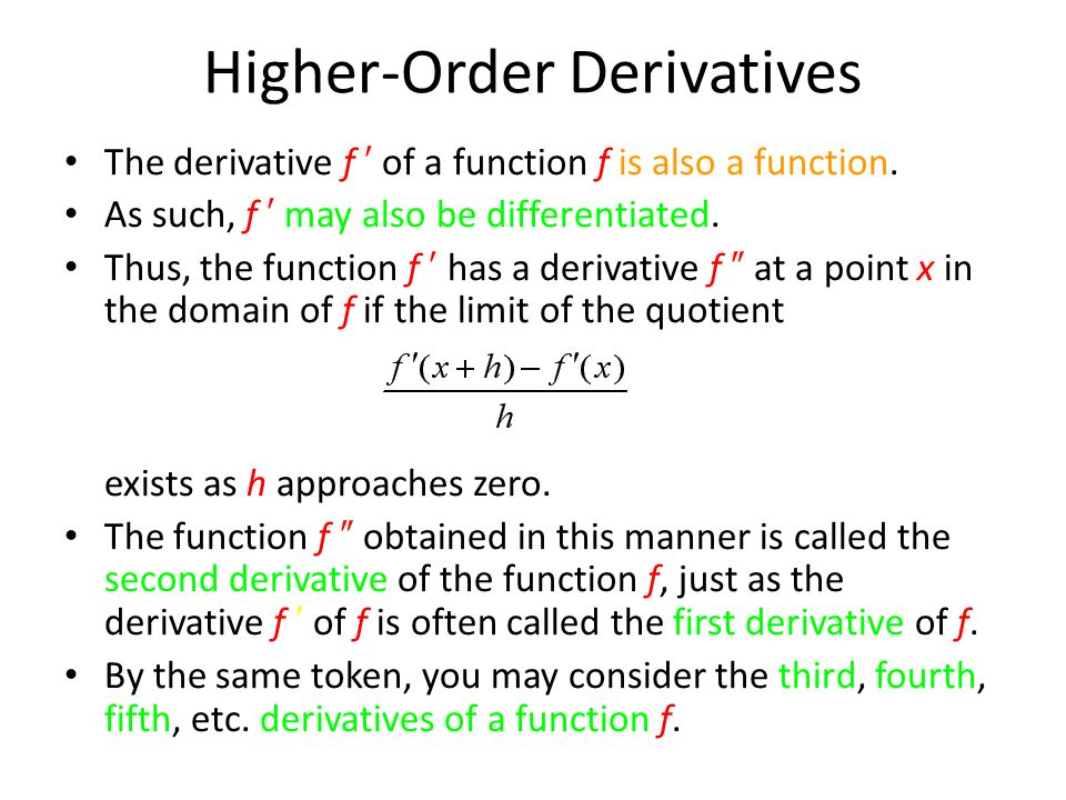 F X H F X H Calculus: 9 The Derivative Limits One-sided Limits And Continuity