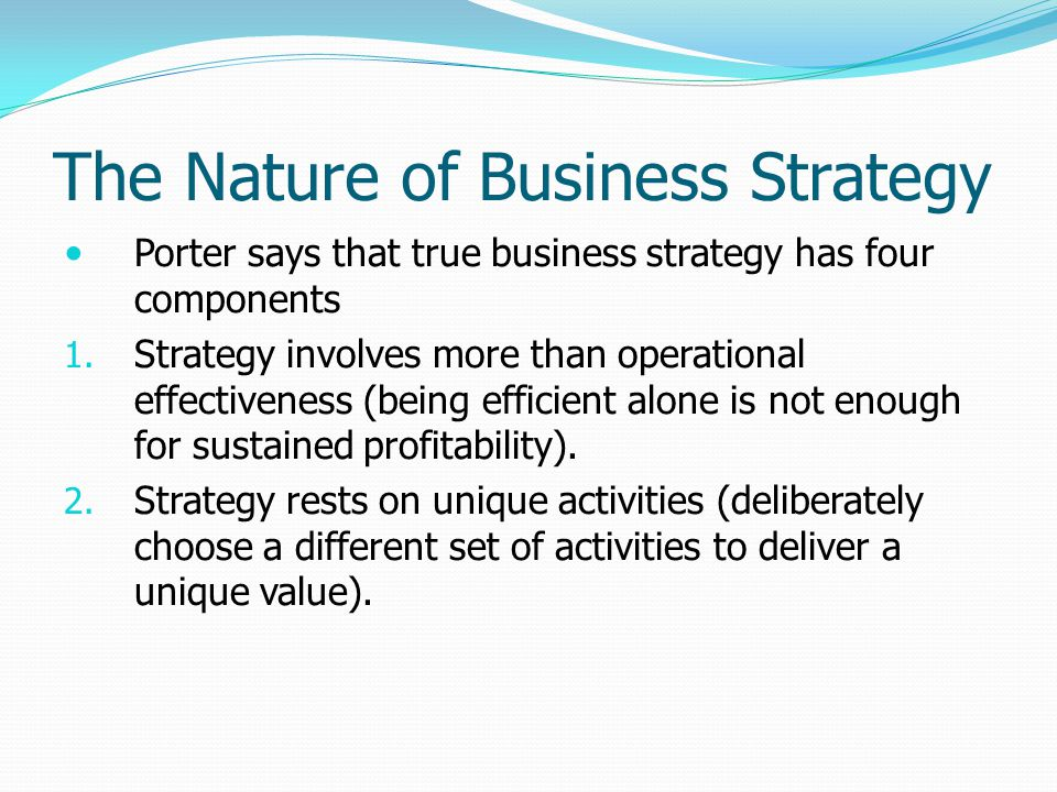 The Nature of Business Strategy