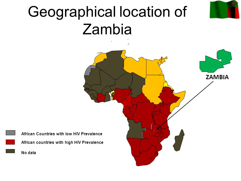 Geographical location of Zambia