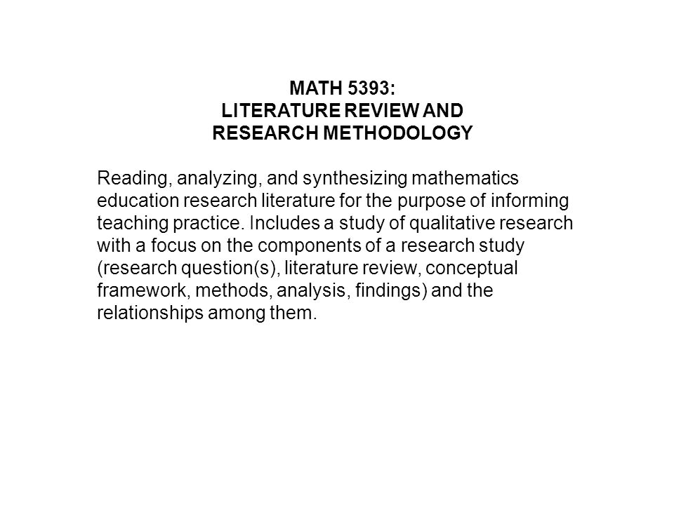 buy math literature review