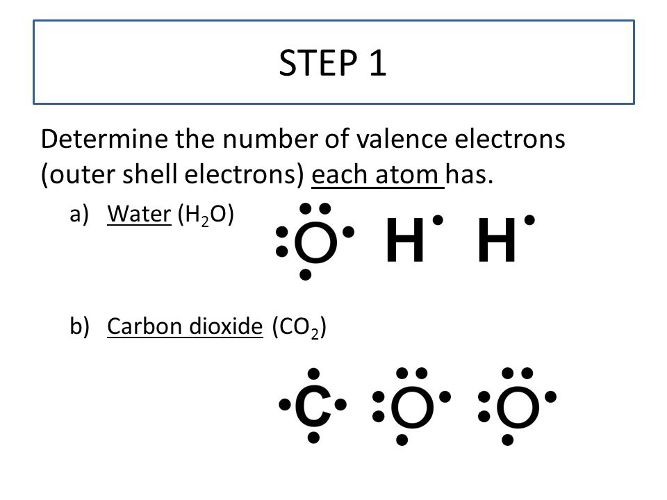 H2o With Valence Electrons Diagram Wiring Diagram For Light Switch