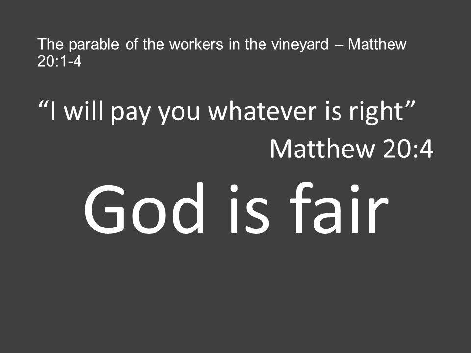 The first will be last… Matthew 20: ppt download
