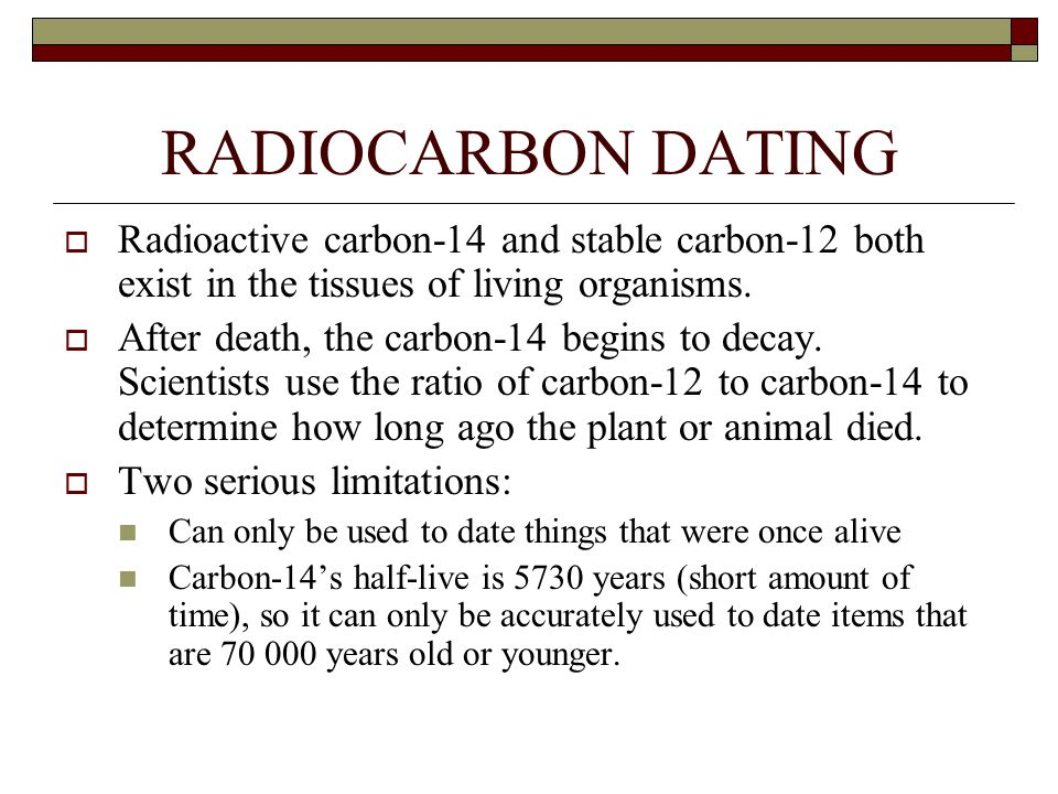Limitation radioactive dating