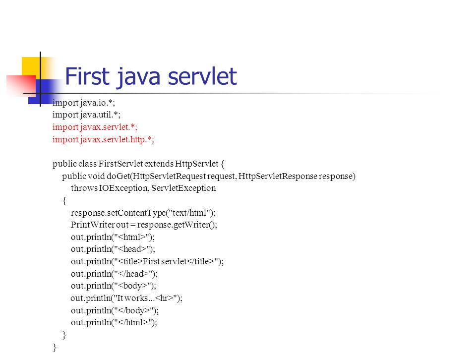 Java Servlets and JSP  - ppt video online download