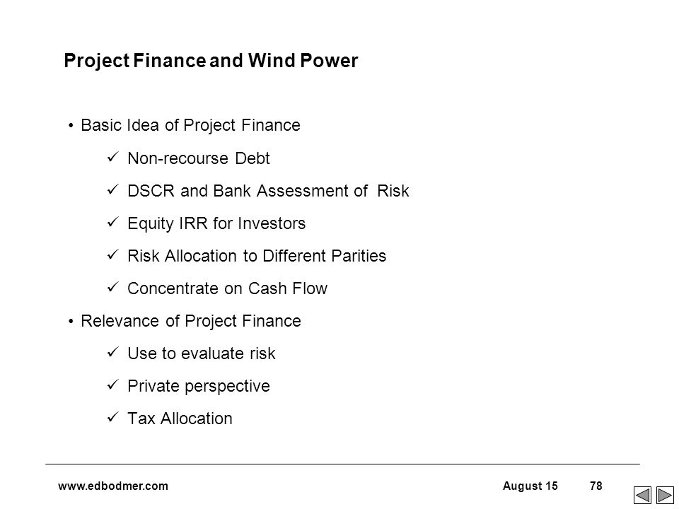 Introduction – Project Finance and Renewable Energy - ppt download