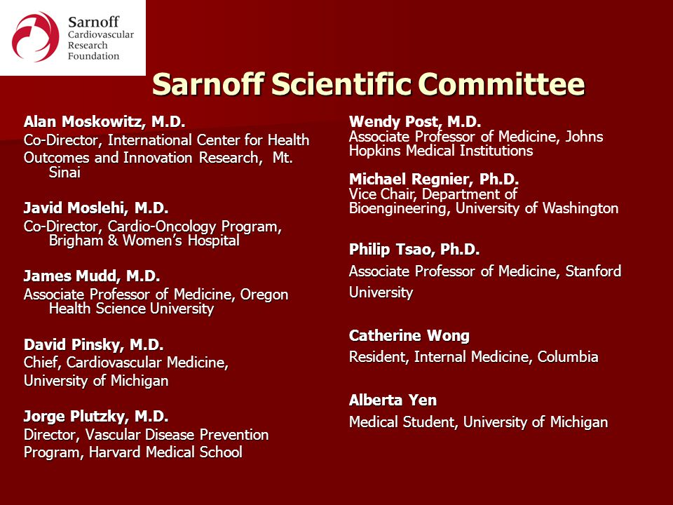 Sarnoff Cardiovascular Research Foundation - ppt video