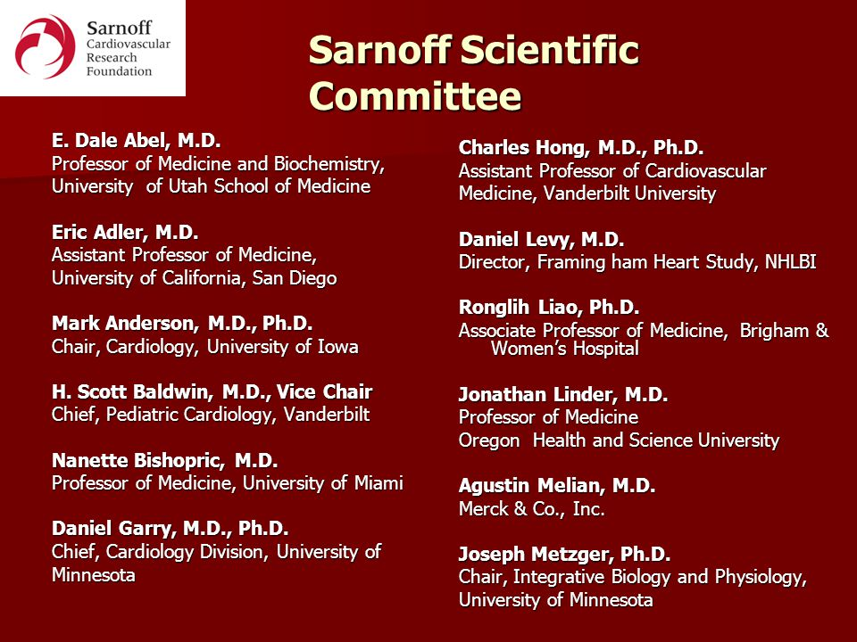 Sarnoff Cardiovascular Research Foundation - ppt video